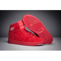 "Air Jordan 1 High BG ""Red Suede"" Gym Red/Gym Red New Release"