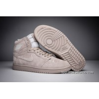 "Air Jordan 1 High BG ""Grey Suede"" Wolf Grey/Wolf Grey New Release"