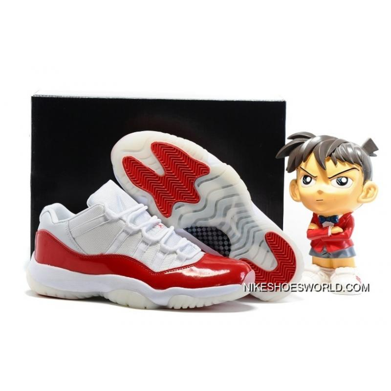 new styles c30a1 cd7a2 Air Jordan 11 Low White Varsity Red New Release