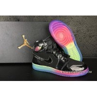 "Air Jordan 1 High GS ""Rainbow Sole"" For Sale"