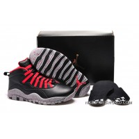 "Air Jordan 10 GS ""PSNY"" X Public School Black-Grey/Gym Red Super Deals"