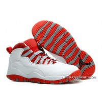Air Jordan 10 Retro White/ Varsity Red Online