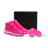 """Air Jordan 11 GS """"Pink Everything"""" Pink White Shoes Super Deals"""