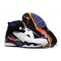 "Air Jordan 8 ""Three Peat"" White/Infrared 23-Black-Bright Concord New Style"