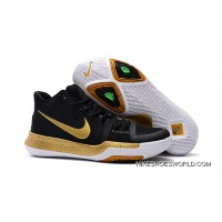 Girls Nike Kyrie 3 Black Gold White New Style