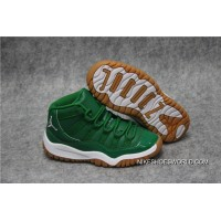 "Kids Air Jordan 11 ""Green White"" Authentic"