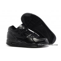 Nike Air Flight '89 All Black Leather Basketball Shoes New Style