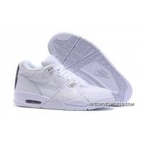 Nike Air Flight '89 White/White-White Shoes Authentic