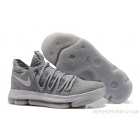 "Latest Nike KD 10 ""Cool Grey"""