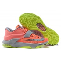 """Nike Kevin Durant KD 7 VII """"35000 Degrees"""" Bright Mango/Space Blue/Light Magnet Grey Cheap To Buy"""