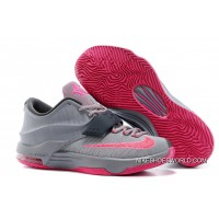 """Nike Kevin Durant KD 7 VII """"Calm Before The Storm"""" Grey/Hyper Punch-Light Magnet Grey New Release"""
