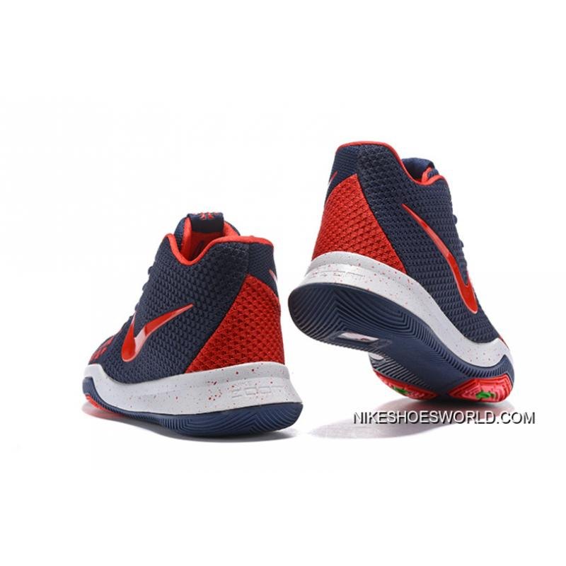 sports shoes 76503 e2beb Nike Kyrie 3 Navy Blue/Red Free Shipping
