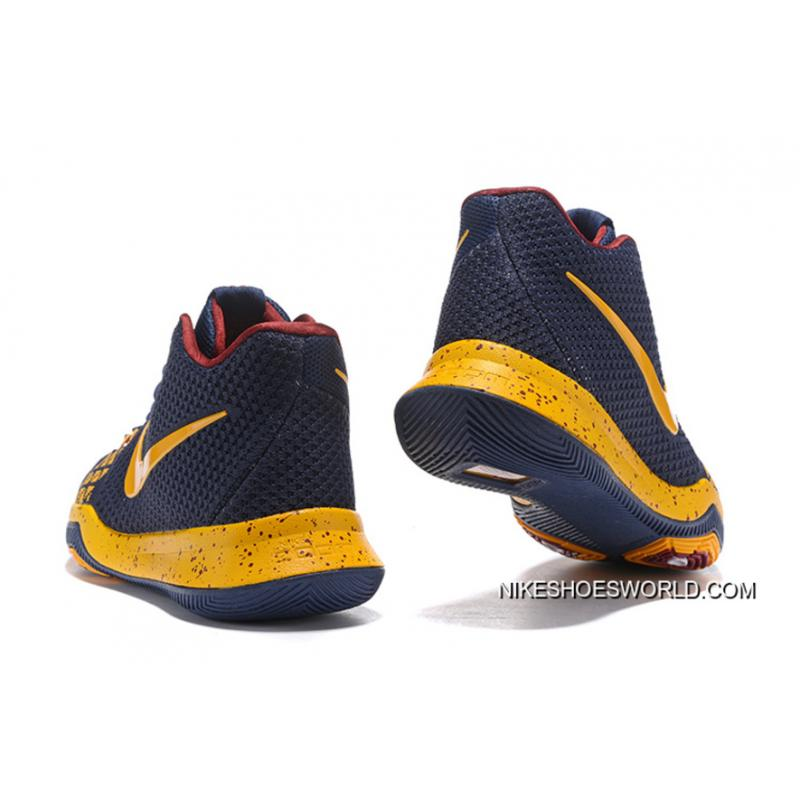 new concept 943a0 bc1e2 Nike Kyrie 3 Navy Blue/Yellow Discount