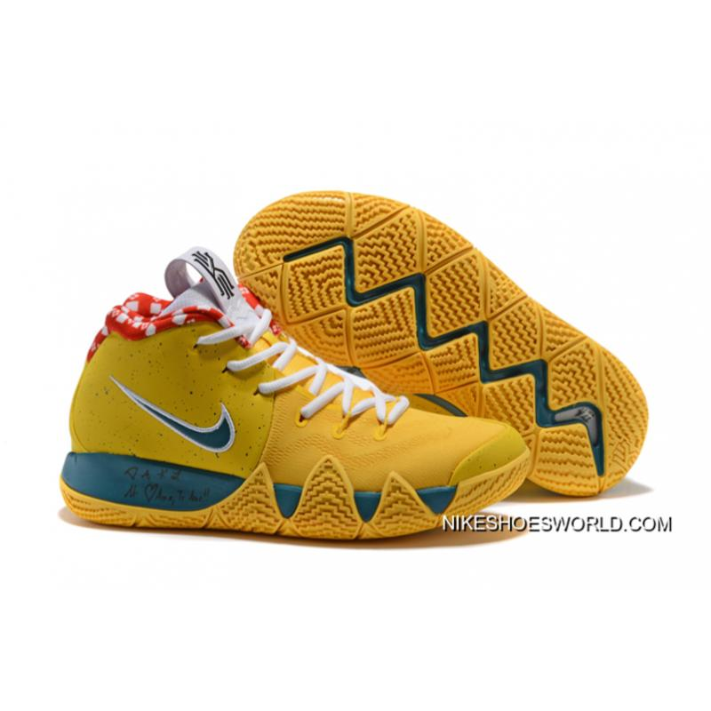 "new concept 3fbd6 d5a2c Women Free Shipping Nike Kyrie 4 ""Yellow Lobster"" PE ..."