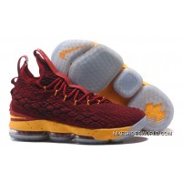 Nike LeBron 15 Burgundy Yellow Outlet