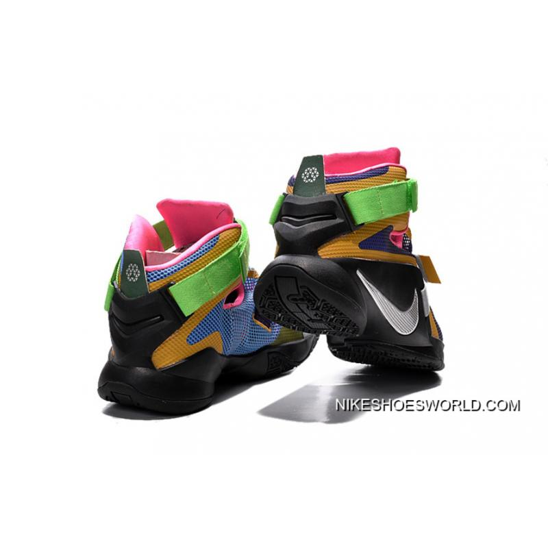 """31e8536ee81 ... Nike LeBron Soldier 9 """"What The LeBron"""" Multi Color Black-White  Basketball ..."""