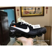 Men OFF WHITE X Nike Air VaporMax 2018 Flyknit Running Shoes SKU:154665-207 Latest