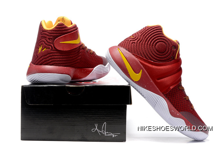 new products 58428 9acac Super Deals Girls Nike Kyrie 2 Cav Wine Red/Yellow