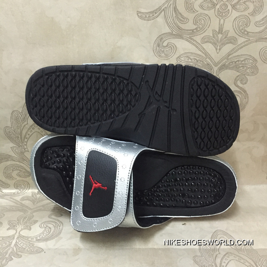 f6035bcc3365 Jordan Hydro 13 Retro 3M Silver Black Red Slide Sandals Online ...