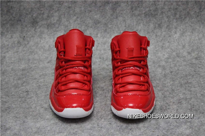"new product 0a119 8f2f3 Kids Air Jordan 11 ""Red White"" Free Shipping"