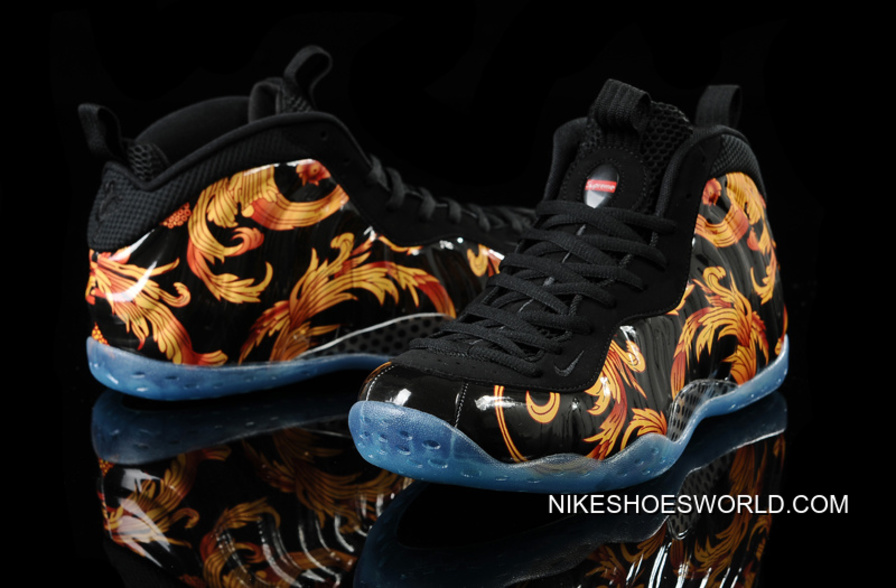 "Supreme X Nike Air Foamposite One ""Black"" Free Shipping"
