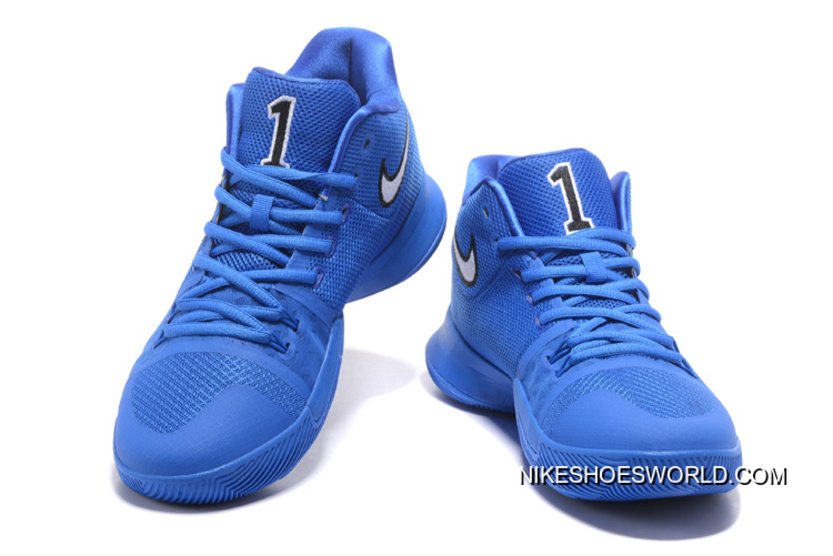 """check out 801c8 50cc2 New Nike Kyrie Irving 3 """"Duke"""" Black/Game Royal Blue Devils Copuon Code"""