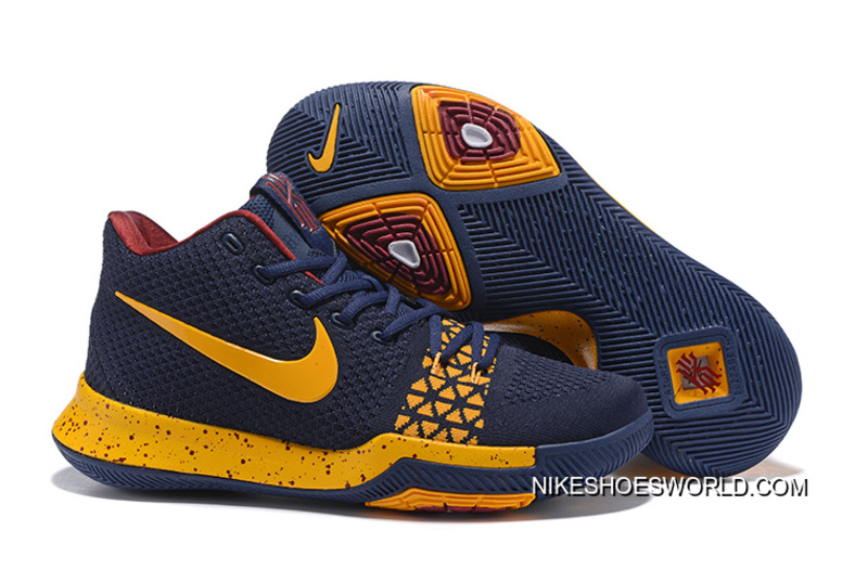 new concept ec2e4 f2176 Nike Kyrie 3 Navy Blue/Yellow Discount
