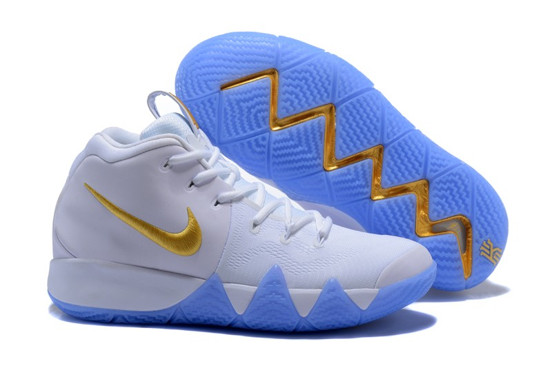 quality design e2042 d6332 New Style Nike Kyrie 4 White Gold