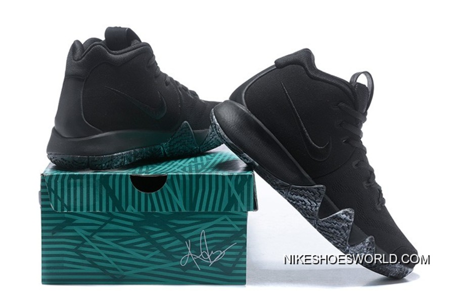 "Free Shipping Nike Kyrie 4 ""Triple Black"""