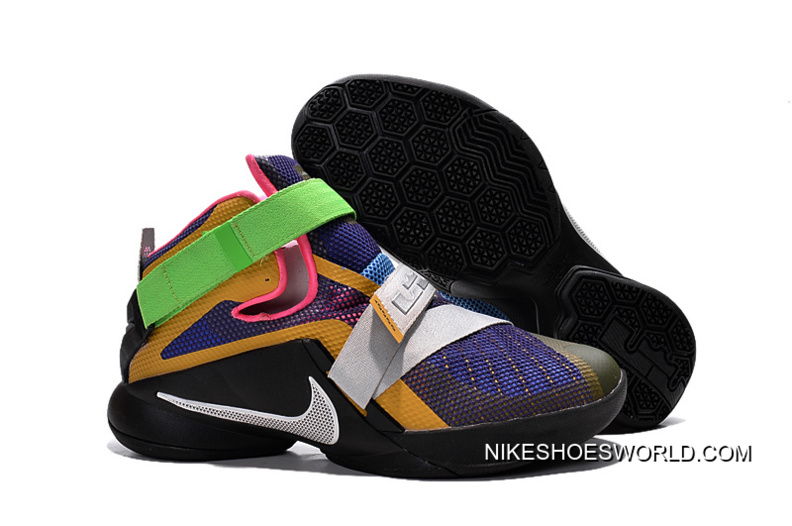 """new concept 8011b 94ba4 Nike LeBron Soldier 9 """"What The LeBron"""" Multi Color/Black-White Basketball  Shoe New Release"""